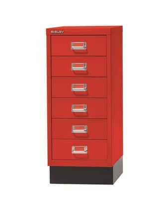 Bisley-MultiDrawers-On-Desk-Storage-Red