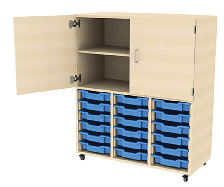 18-Tray-Plastic-Drawer-Storage-Unit-with-Top-Cupboard