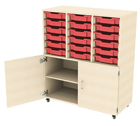 18-Tray-Drawer-Storage-Unit-With-Cupboard