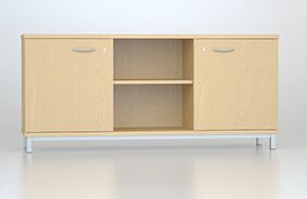 MFC Credenza Unit with Two Lockable Doors