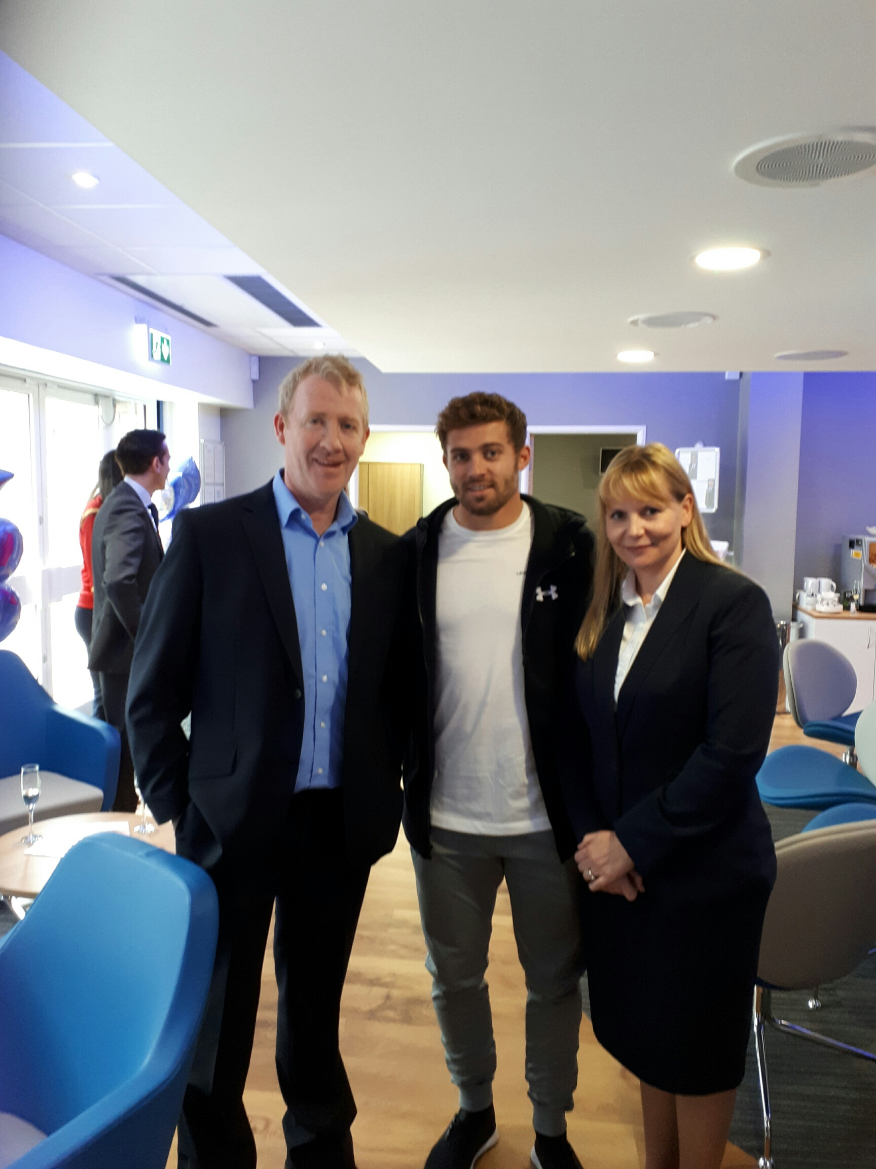 Optimax Cardiff Opening Leigh Halfpenny