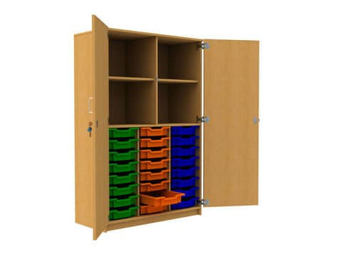 24-Tray-Storage-Unit-with-Top-Cupboard