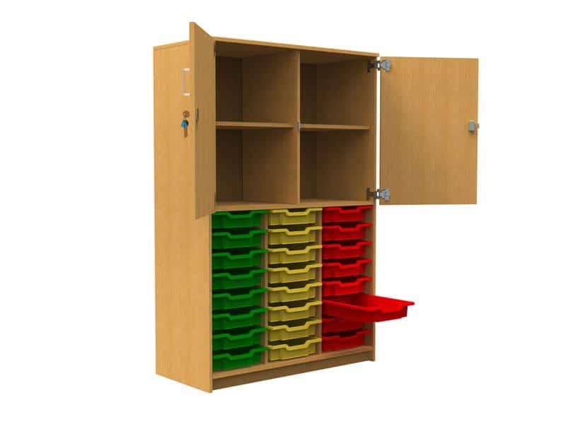 24-Tray-Storage-Unit-with-Half-Door