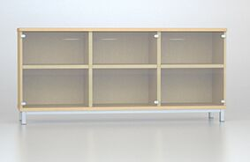 Credenza Unit with Frosted Glass Doors