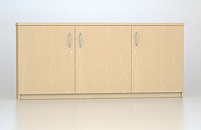 MFC Credenza Unit with 3 Lockable Doors