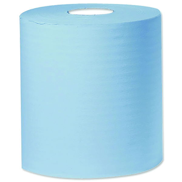 300m Blue 1 Ply Centre-Feed Roll