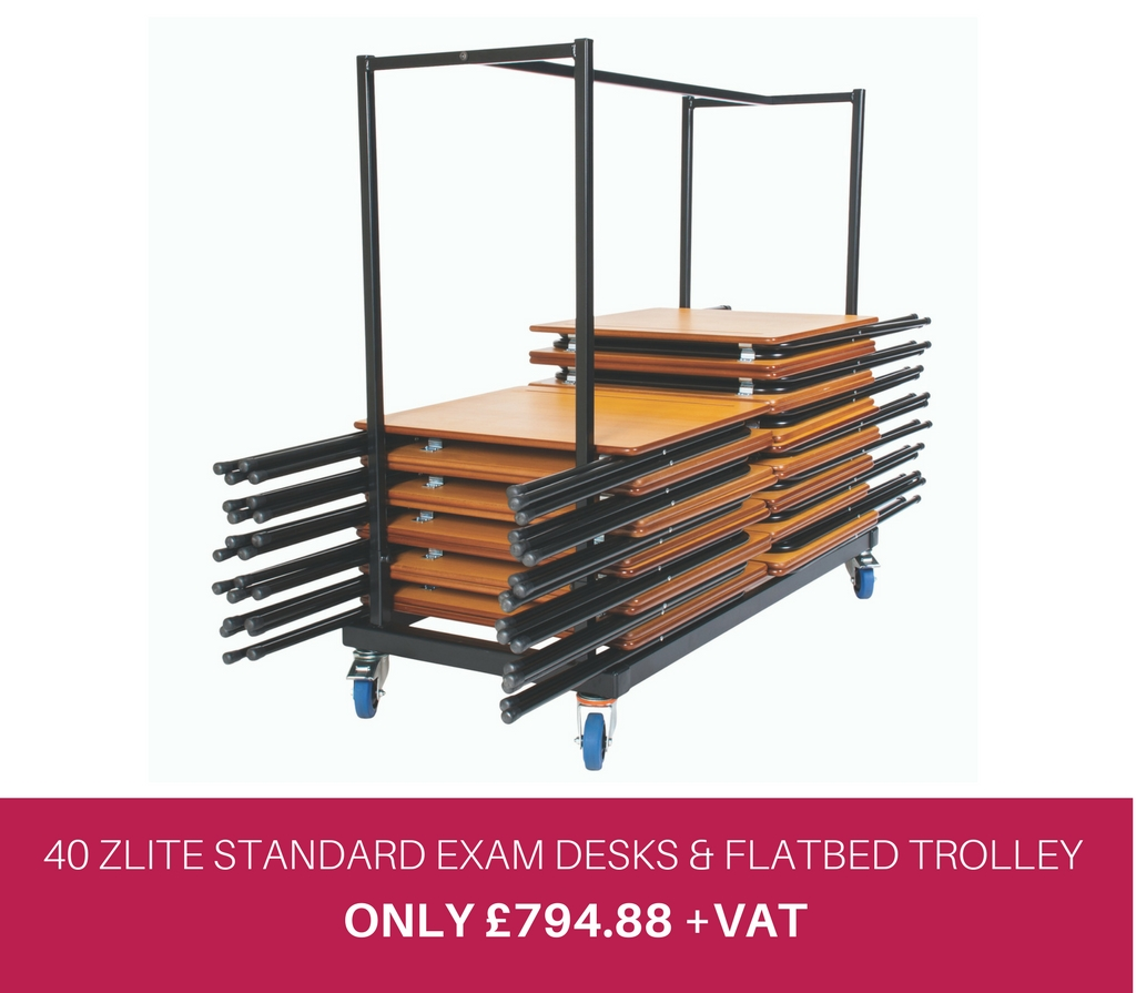 40 Zlite Standard Desks and Trolley Offer