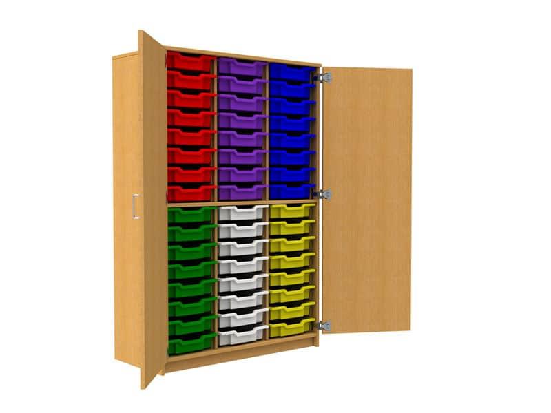 48-Plastic-Tray-Storage-Unit-With-Door