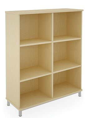 6 Compartment Storage Unit MFC Open Fronted