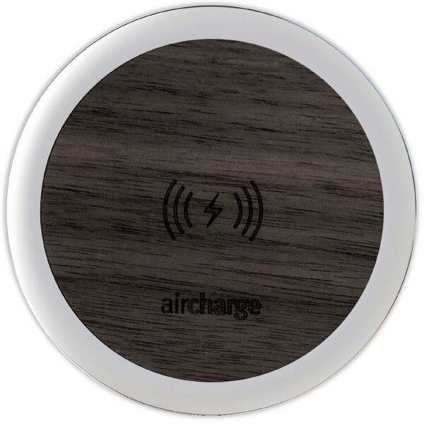 Aircharge Ebony Veneer Wireless Charger with Aluminium Surround