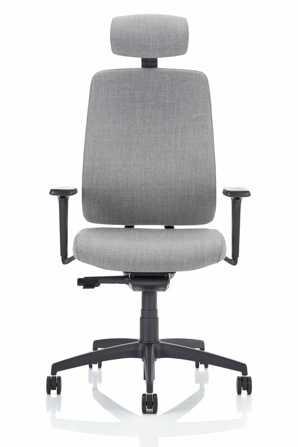 Fully Upholstered Task Chair with Headrest Grey