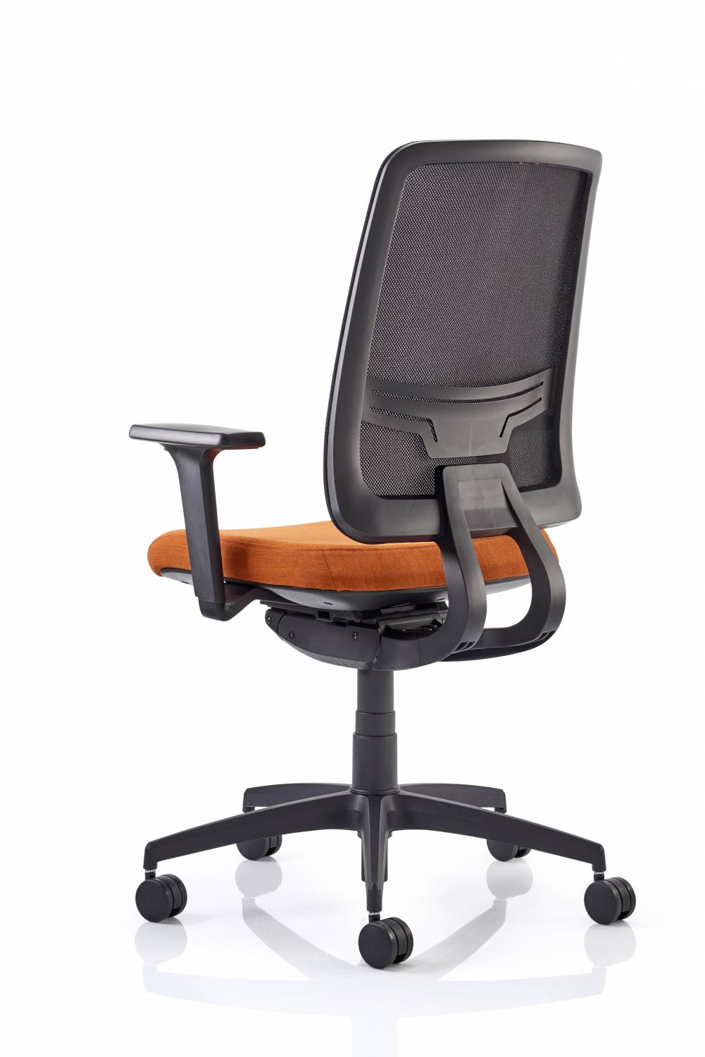 Mesh Back Task Chair Orange Seat