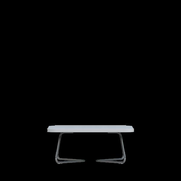 Adore reception coffee table white