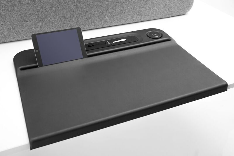 Aircharge Desk Mat with Ergonomic Device Groove