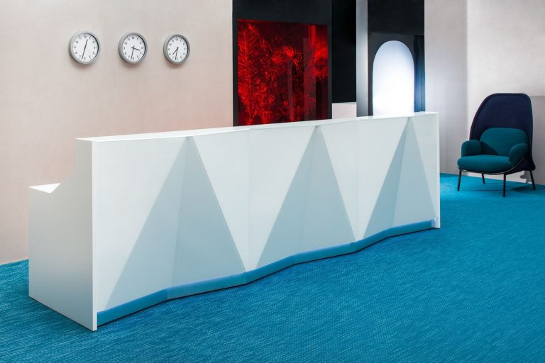 Alpa Reception Desk White In Situ