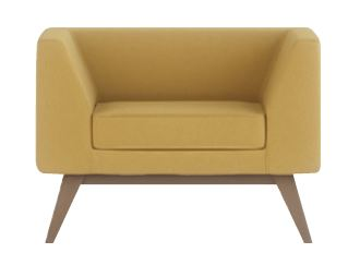 Alvier-Single-Seater-Arm-Chair-with-Wooden-Angled-Legs