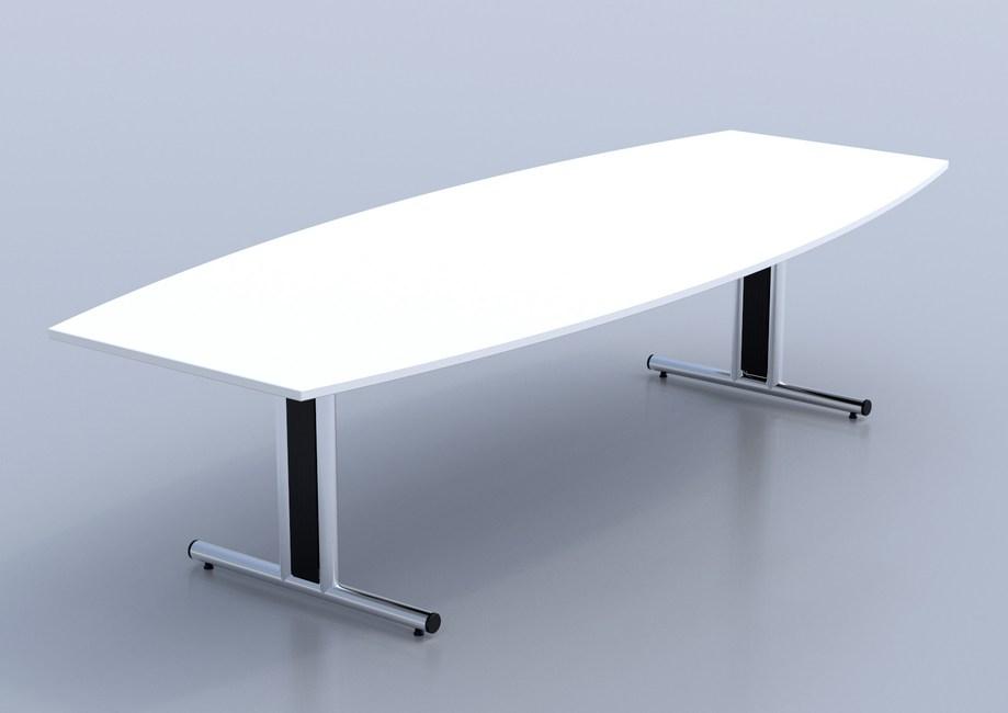 Ambus-Double-T-Base-Barrel-Top-Table-White