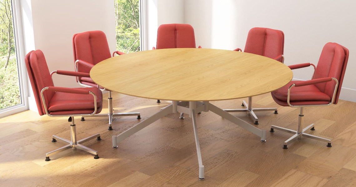 Ambus-V-Base-Round-Top-Table-In-Situ