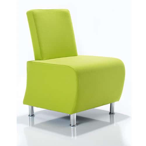 Atrium-Modern-Modular-Reception-Chair-Bright-Green-Chrome-Legs