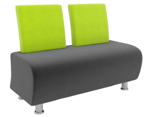 Atrium-Modular-Soft-Seating-Two-Seater-with-Chrome-Legs