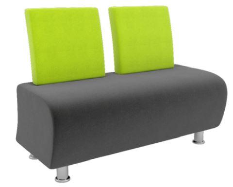 Atrium-Modular-Soft-Seating-Two-Seater-with-Chrome-Legs