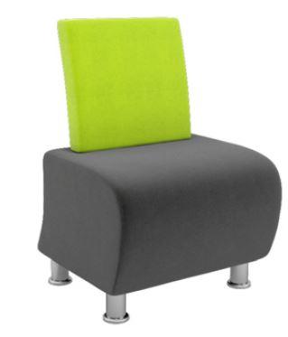 Atrium-Modular-Soft-Seating-Single-Seater-Chrome-Legs