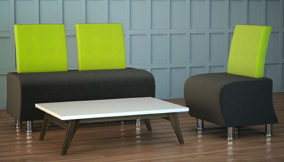 Atrium-Sofa-And-Chair-In-Situ-Green-and-Charcoal