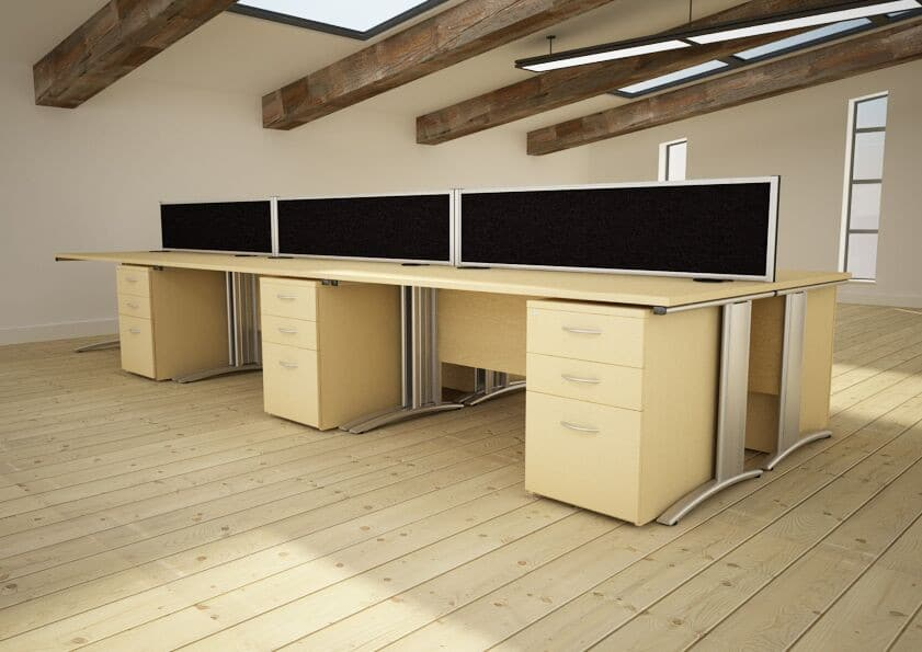 D3K-Deskits-Cantilever-Frame-With-Pedestal-Drawers-In-Office