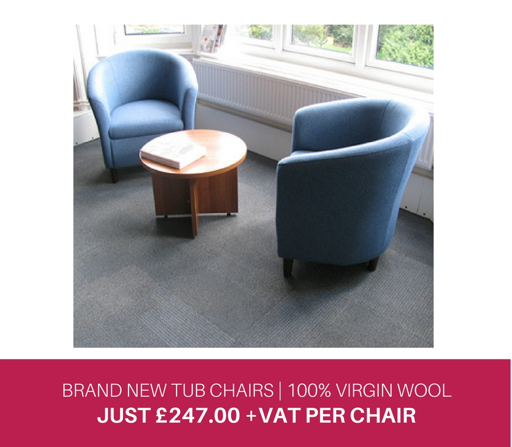 BRAND NEW TUB CHAIRS 100% VIRGIN WOOL