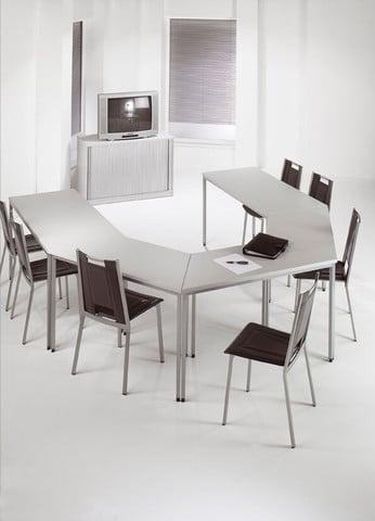Trapezium-Top-Modular-Multi-Purpose-Meeting-Table-In-Office