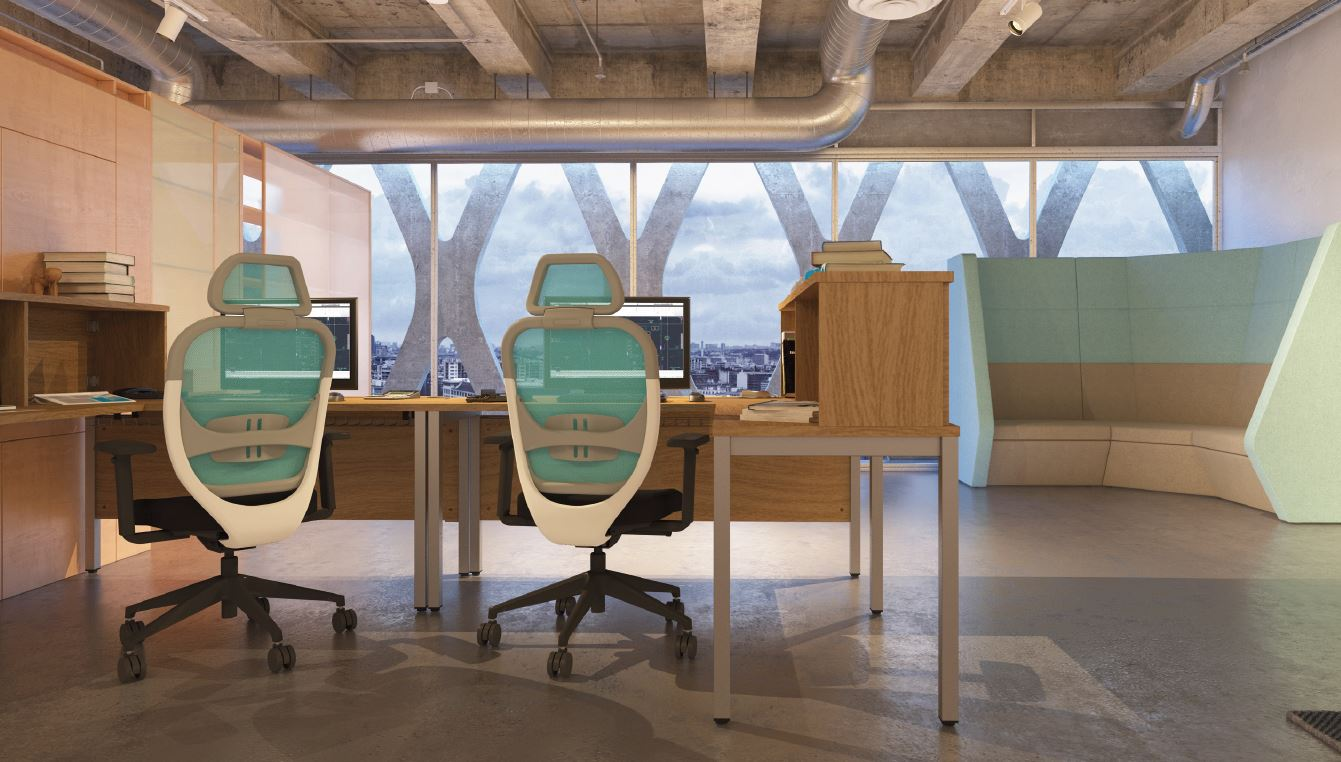 Bench Deskit with Oscar Task Chairs