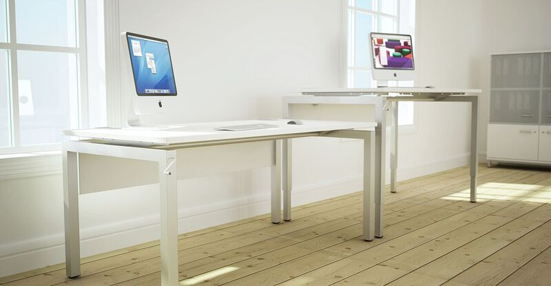 Bench²-Manual-Height-Adjustable-Desks-White-In-Situ