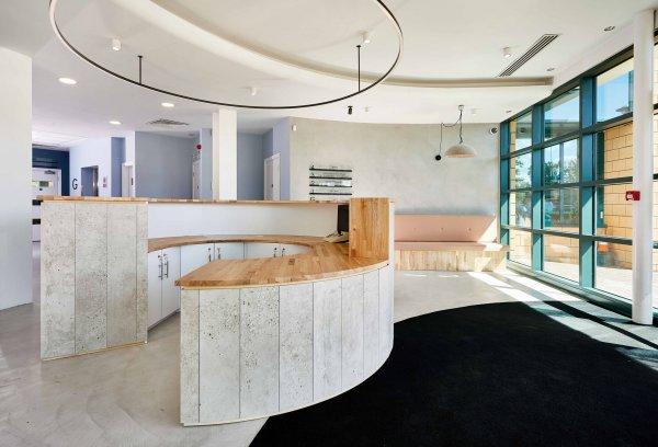Bespoke Design Curved Reception Desk