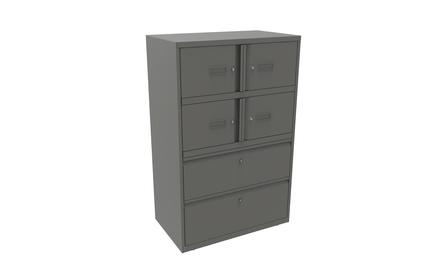 Bisley Combination Storage and Filing Unit 4 Compartments and 2 Drawers