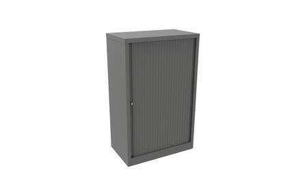 Bisley Essential Tambour Cupboard with 2 Internal Shelves