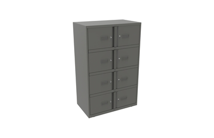 Bisley Lodge Lockers Grey Steel 8 Door Unit