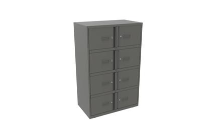 Bisley Lodge Lockers Grey Steel 8 Door Unit