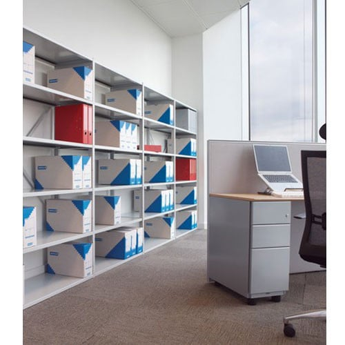 Bisley-Static-Steel-Shelving-White-In-Office-Example