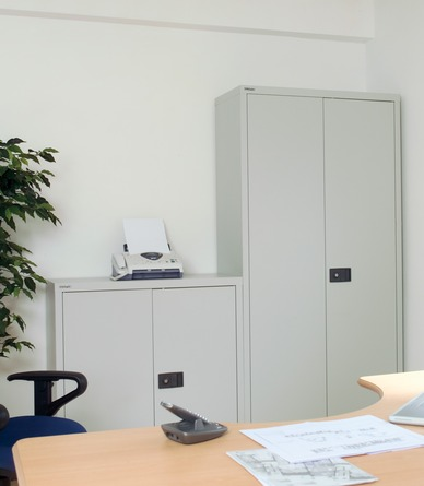 Bisley Stationery and Filing Cupboards In Situ