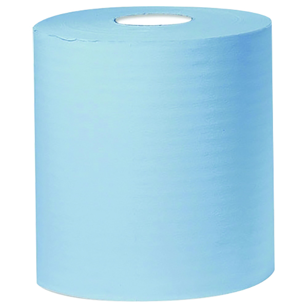 Blue Centrefeed Tissue Roll