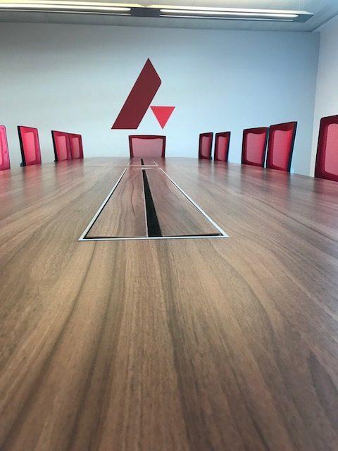 Box Base Boardroom Table Walnut MFC