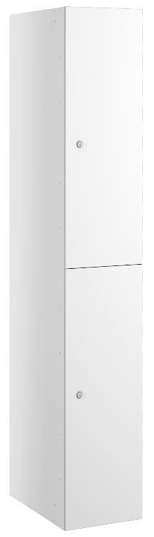 Dual Compartment Locker White