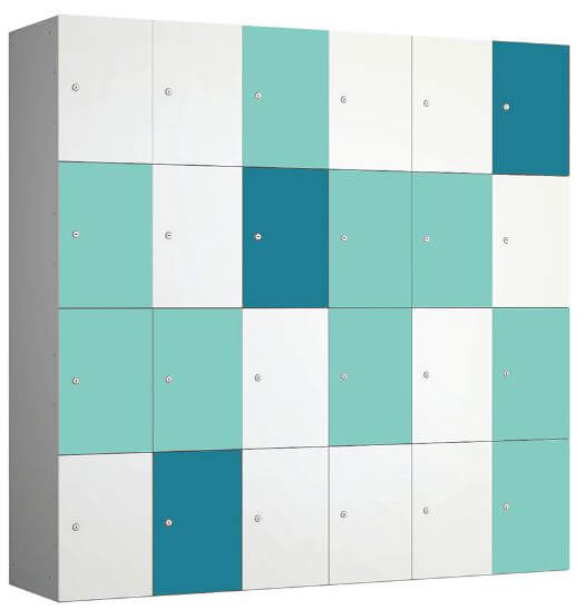 Buzzbox Lockers Turquoise Mint and White