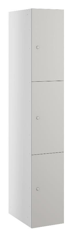 Triple Compartment Locker Grey Buzzbox