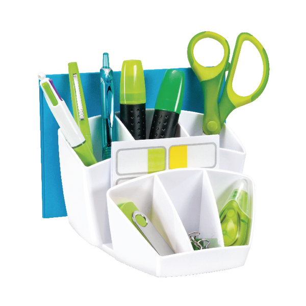 CEP00022 White Gloss Desk Tidy