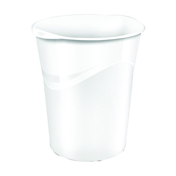 White Gloss Waste Bin