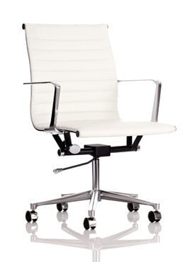 Blade-White-Faux-Leather-Conference-Chair-with-Castors