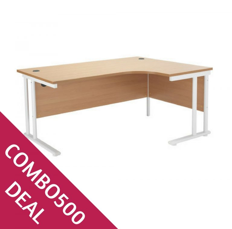 COMBO500 DEAL CRESCENT DESK