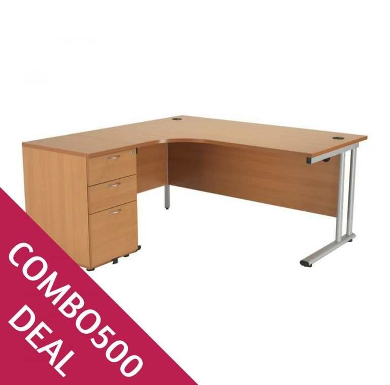 COMBO500 DEAL CRESCENT DESK BUNDLE