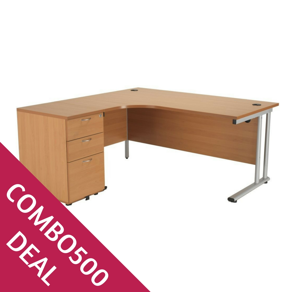 COMBO500 CRESCENT DESK BUNDLE DEAL